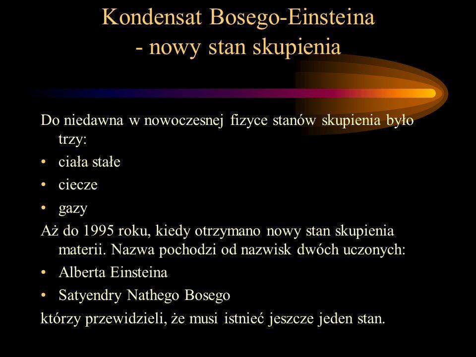 Kondensat Bosego-Einsteina - nowy stan skupienia