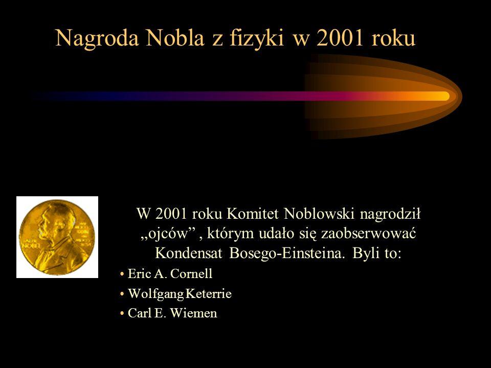 Nagroda Nobla z fizyki w 2001 roku