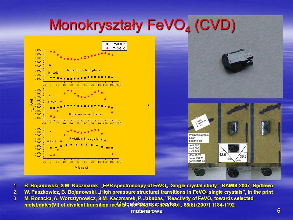 Monokryształy FeVO4 (CVD)