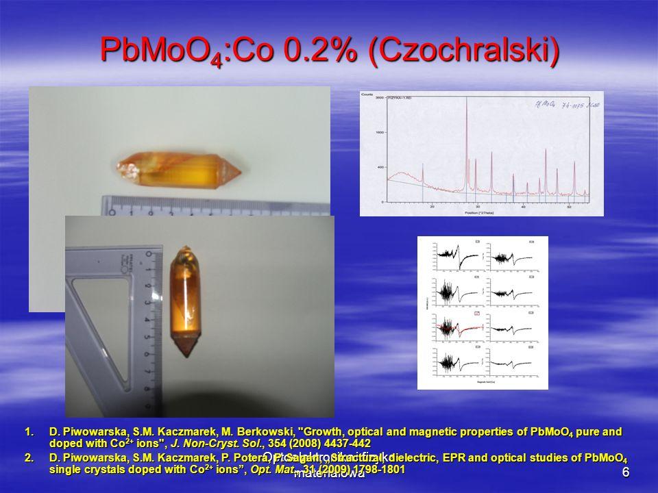 PbMoO4:Co 0.2% (Czochralski)