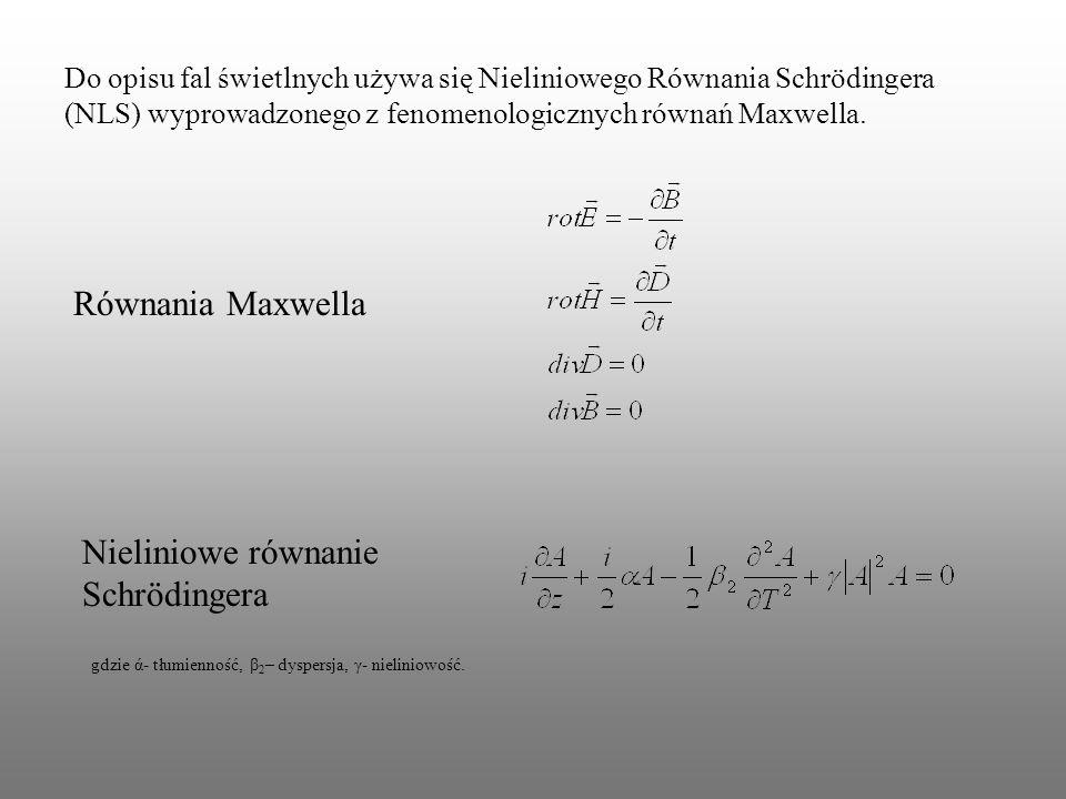 Nieliniowe równanie Schrödingera