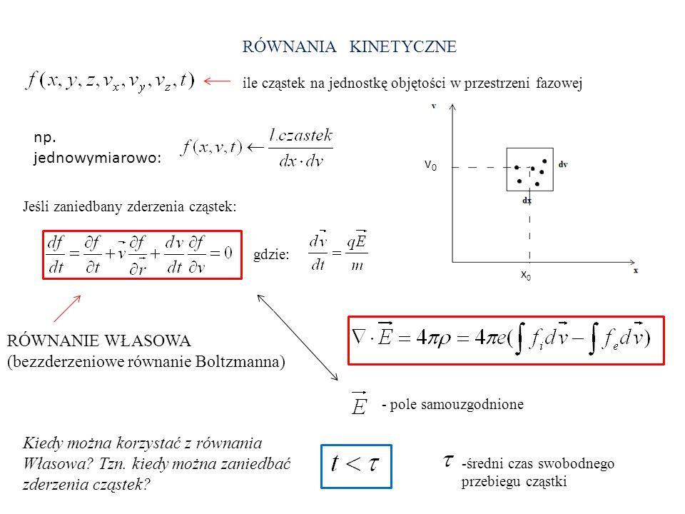 (bezzderzeniowe równanie Boltzmanna)