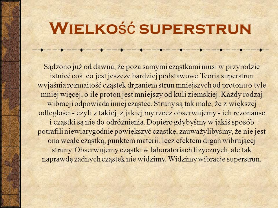 Wielkość superstrun