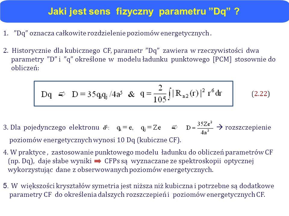 Jaki jest sens fizyczny parametru Dq