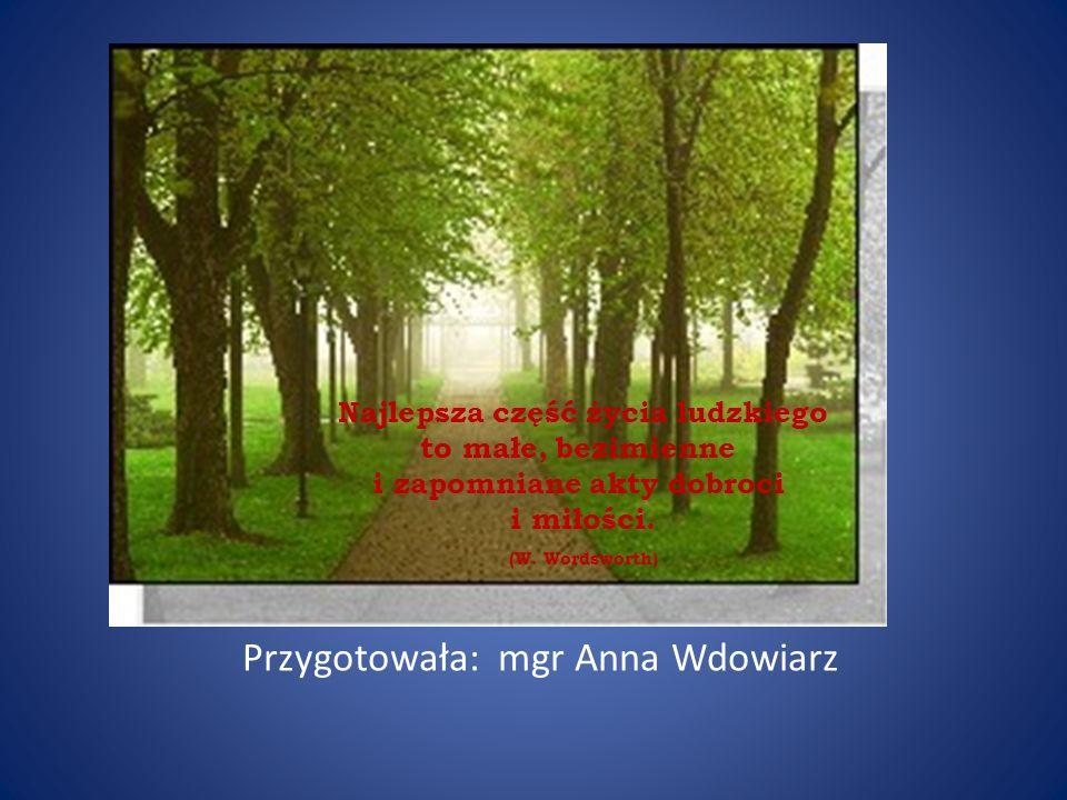 Przygotowała: mgr Anna Wdowiarz