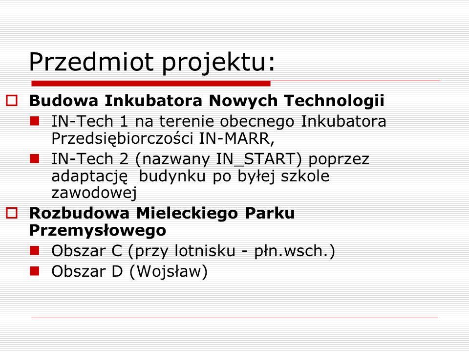 Przedmiot projektu: Budowa Inkubatora Nowych Technologii