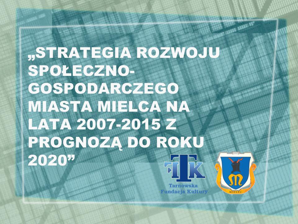 """""""STRATEGIA ROZWOJU SPOŁECZNO-GOSPODARCZEGO MIASTA MIELCA NA LATA 2007-2015 Z PROGNOZĄ DO ROKU 2020"""