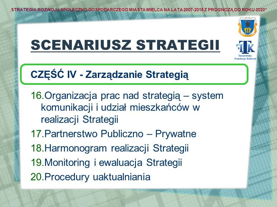 SCENARIUSZ STRATEGII CZĘŚĆ IV - Zarządzanie Strategią