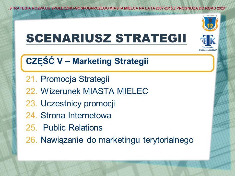 SCENARIUSZ STRATEGII CZĘŚĆ V – Marketing Strategii Promocja Strategii