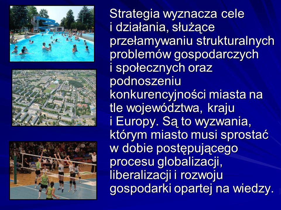 Strategia wyznacza cele i działania, służące przełamywaniu strukturalnych problemów gospodarczych i społecznych oraz podnoszeniu konkurencyjności miasta na tle województwa, kraju i Europy.