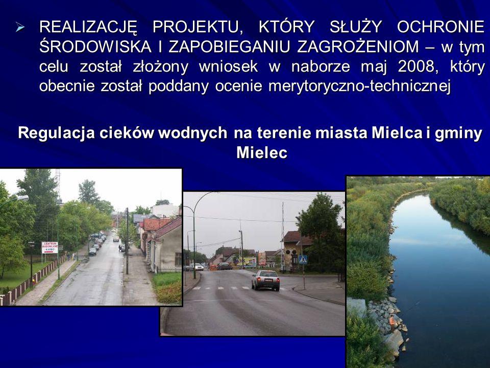 Regulacja cieków wodnych na terenie miasta Mielca i gminy Mielec