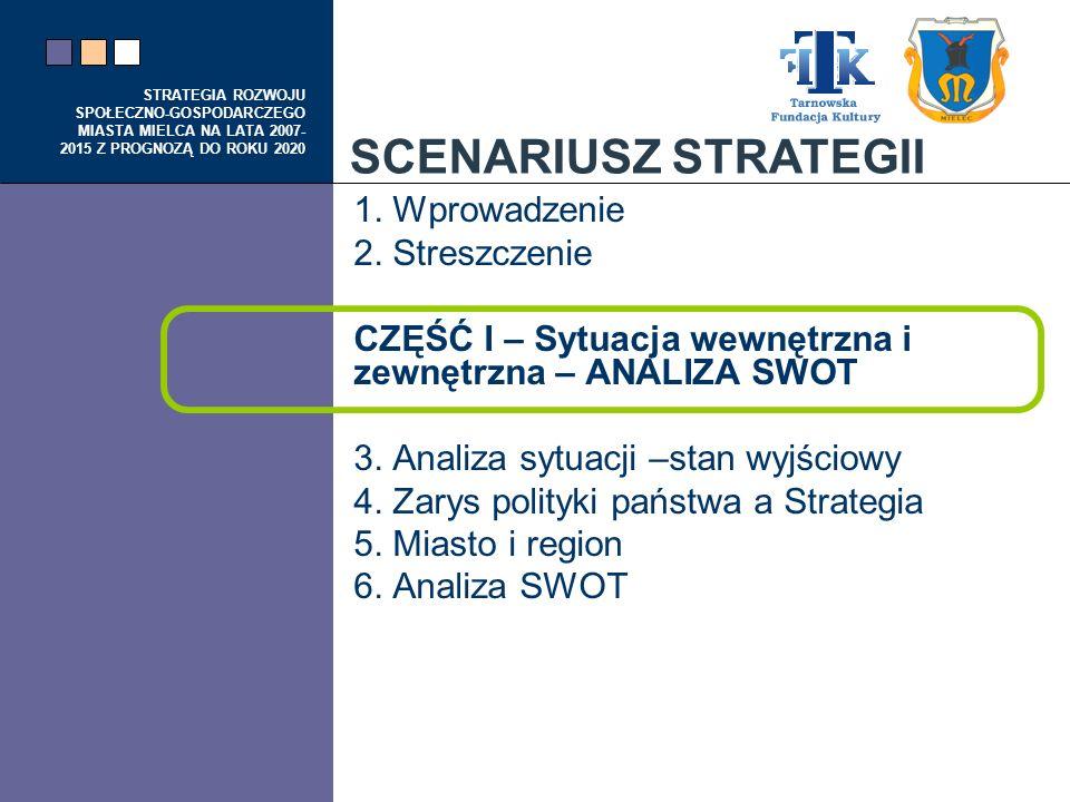 SCENARIUSZ STRATEGII 1. Wprowadzenie 2. Streszczenie