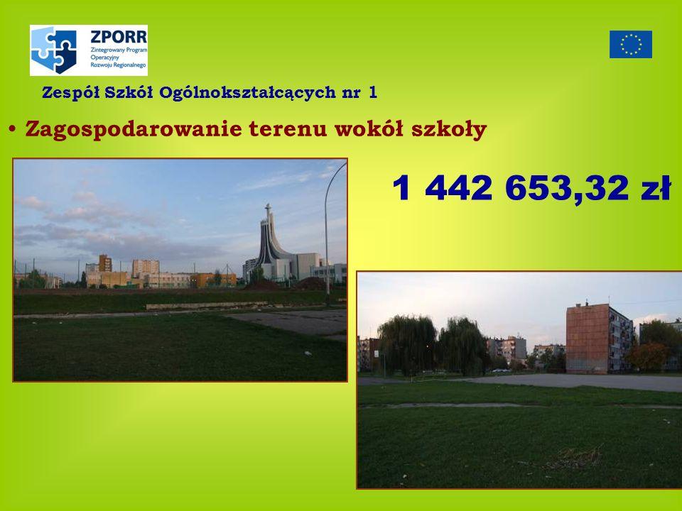 1 442 653,32 zł Zagospodarowanie terenu wokół szkoły