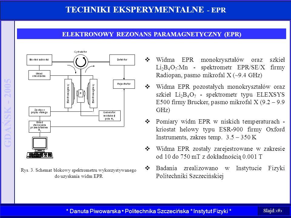TECHNIKI EKSPERYMENTALNE - EPR