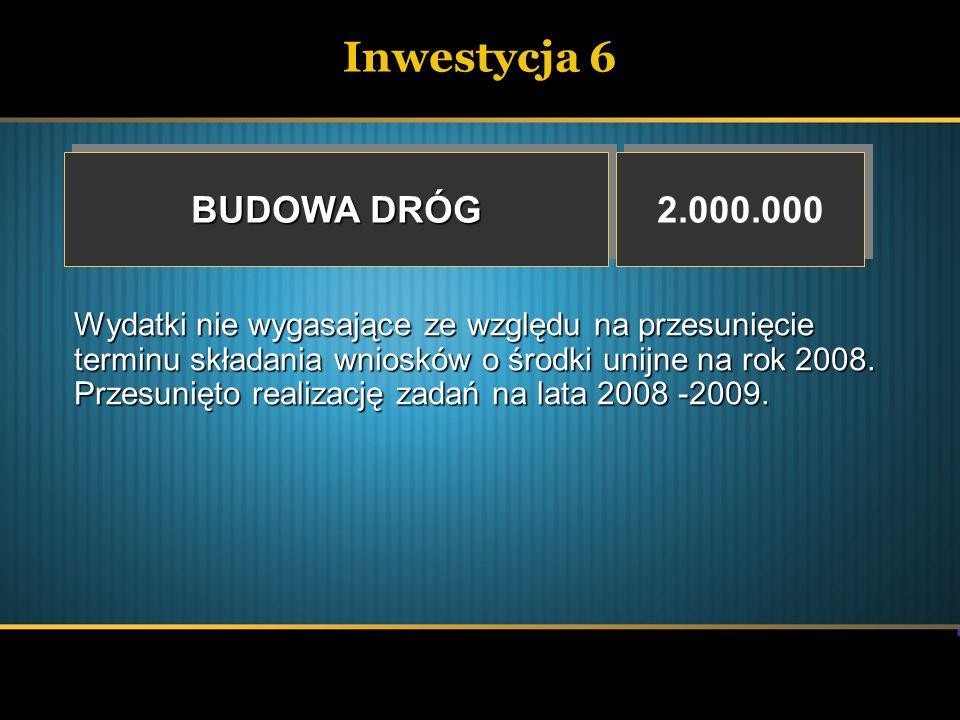Inwestycja 6 BUDOWA DRÓG 2.000.000