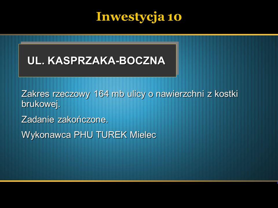 Inwestycja 10 UL. KASPRZAKA-BOCZNA