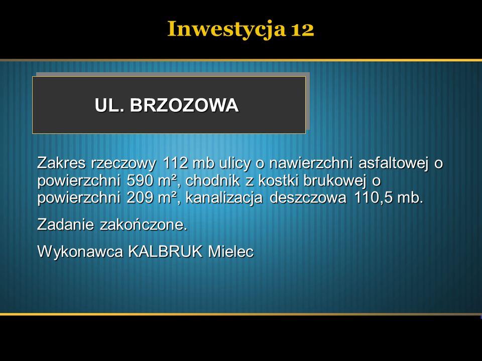 Inwestycja 12 UL. BRZOZOWA