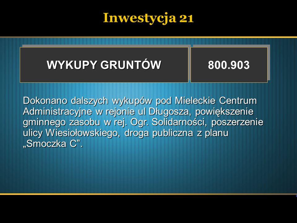 Inwestycja 21 WYKUPY GRUNTÓW 800.903