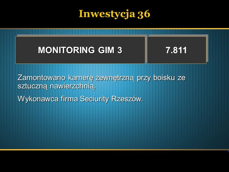 Inwestycja 36 MONITORING GIM 3 7.811