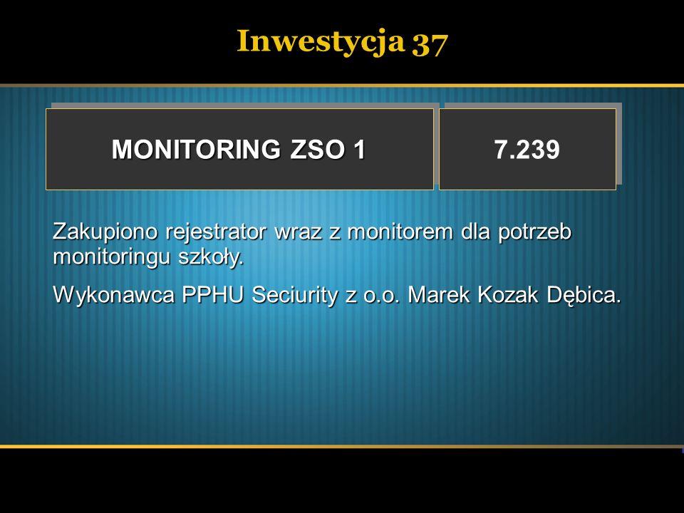 Inwestycja 37 MONITORING ZSO 1 7.239