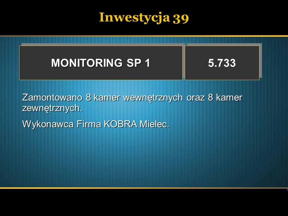 Inwestycja 39 MONITORING SP 1 5.733
