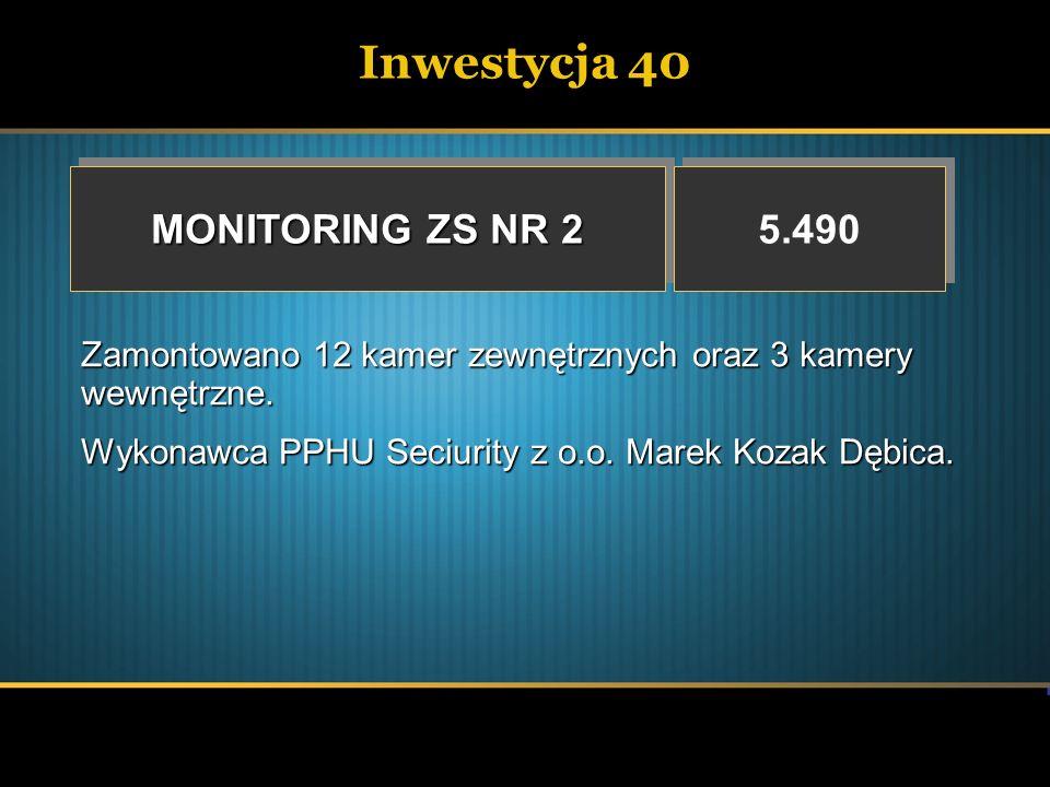 Inwestycja 40 MONITORING ZS NR 2 5.490