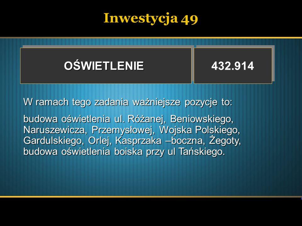Inwestycja 49 OŚWIETLENIE 432.914
