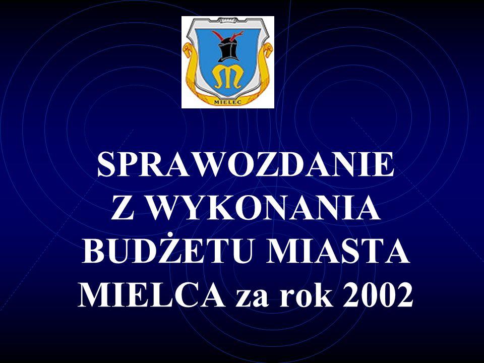 SPRAWOZDANIE Z WYKONANIA BUDŻETU MIASTA MIELCA za rok 2002