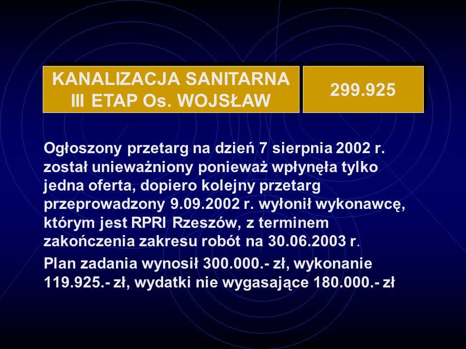 KANALIZACJA SANITARNA