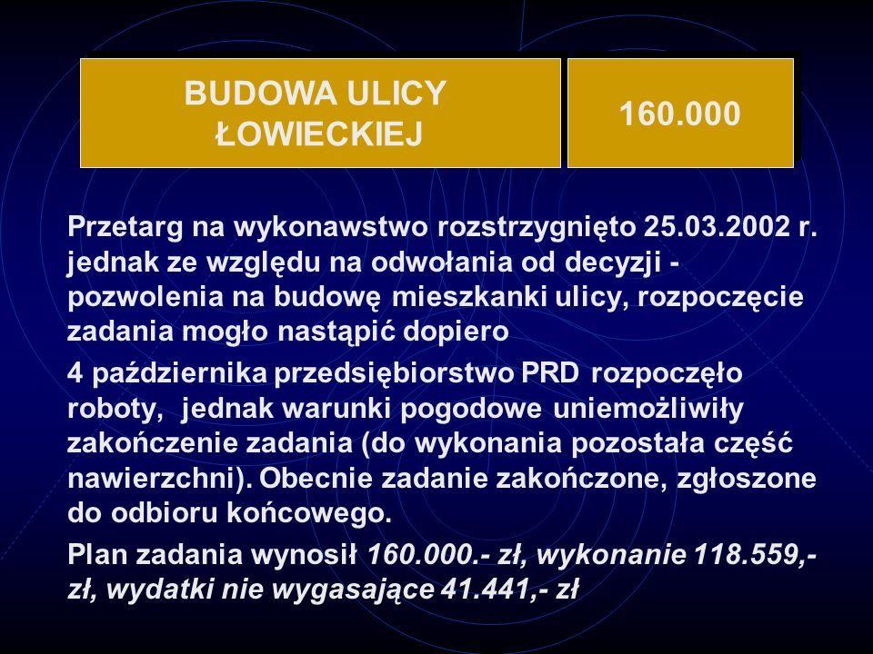 BUDOWA ULICY ŁOWIECKIEJ 160.000
