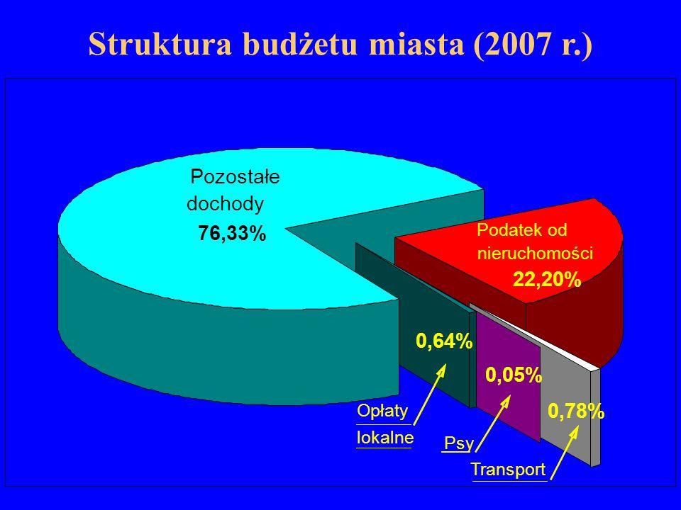 Struktura budżetu miasta (2007 r.)