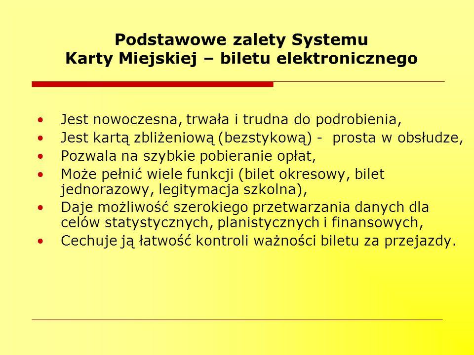 Podstawowe zalety Systemu Karty Miejskiej – biletu elektronicznego