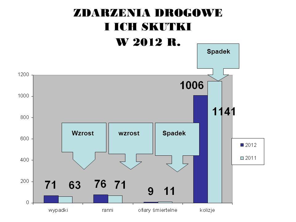 ZDARZENIA DROGOWE I ICH SKUTKI W 2012 R.