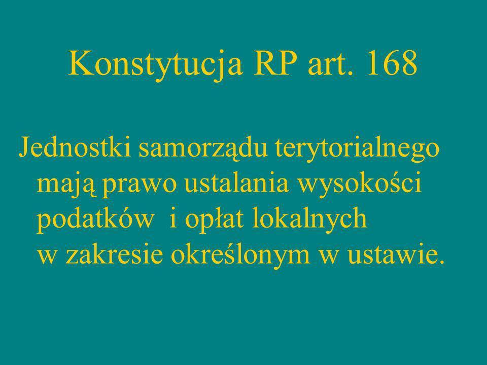Konstytucja RP art. 168