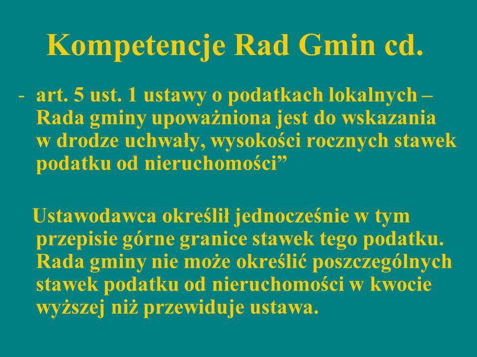 Kompetencje Rad Gmin cd.