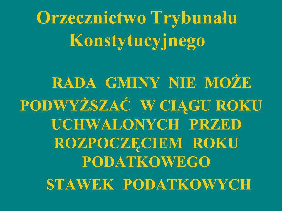 Orzecznictwo Trybunału Konstytucyjnego