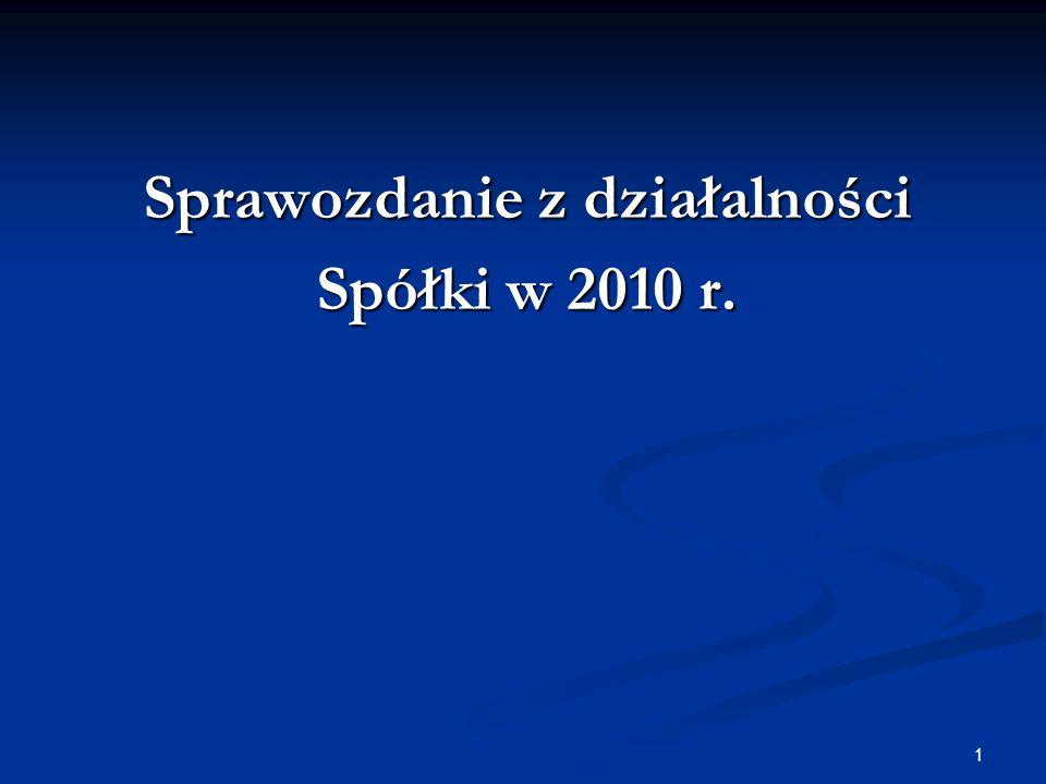 Sprawozdanie z działalności Spółki w 2010 r.