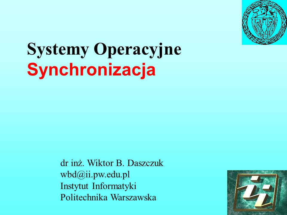 Systemy Operacyjne Synchronizacja