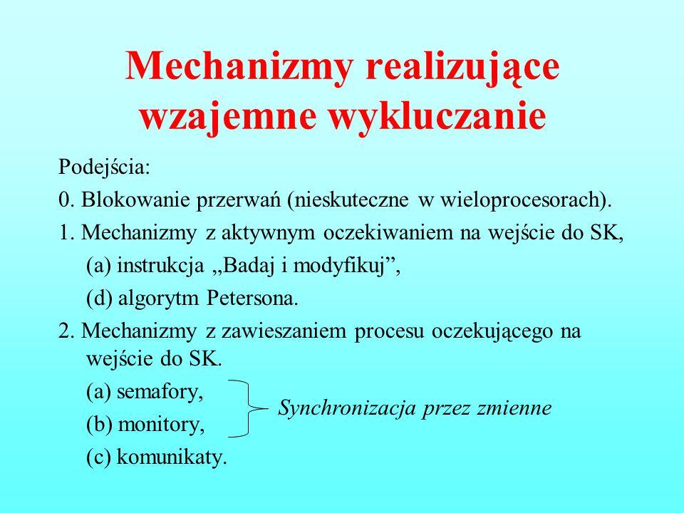Mechanizmy realizujące wzajemne wykluczanie