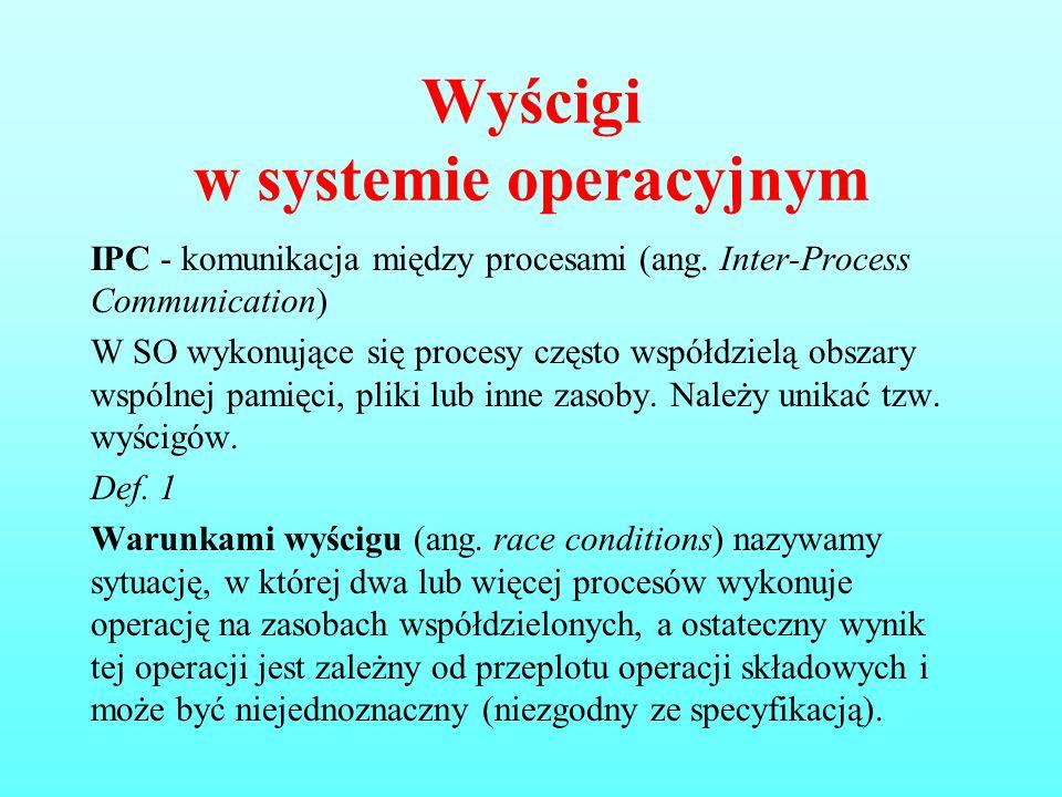 Wyścigi w systemie operacyjnym