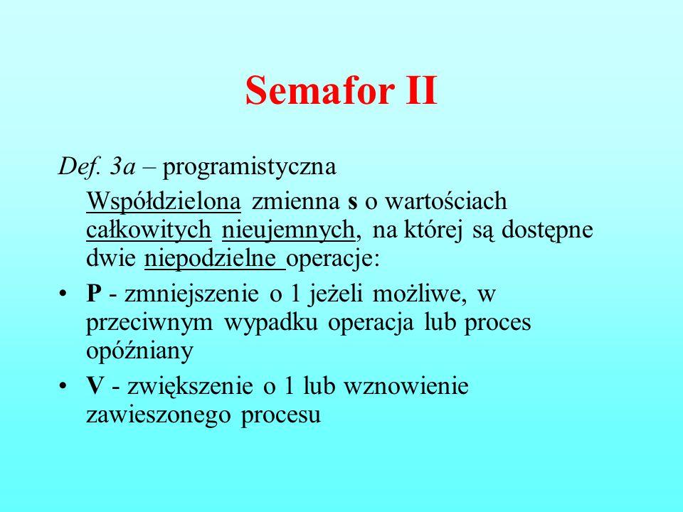 Semafor II Def. 3a – programistyczna
