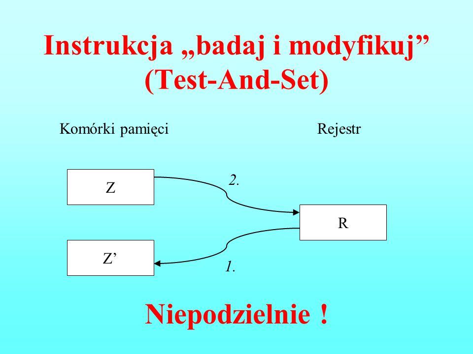 """Instrukcja """"badaj i modyfikuj (Test-And-Set)"""