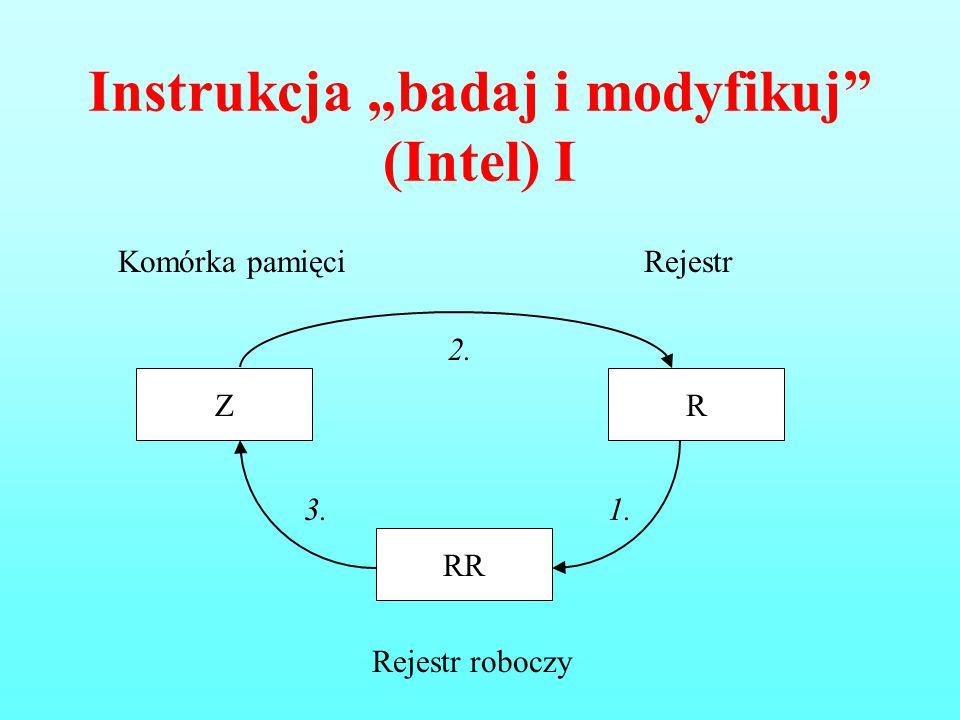 """Instrukcja """"badaj i modyfikuj (Intel) I"""