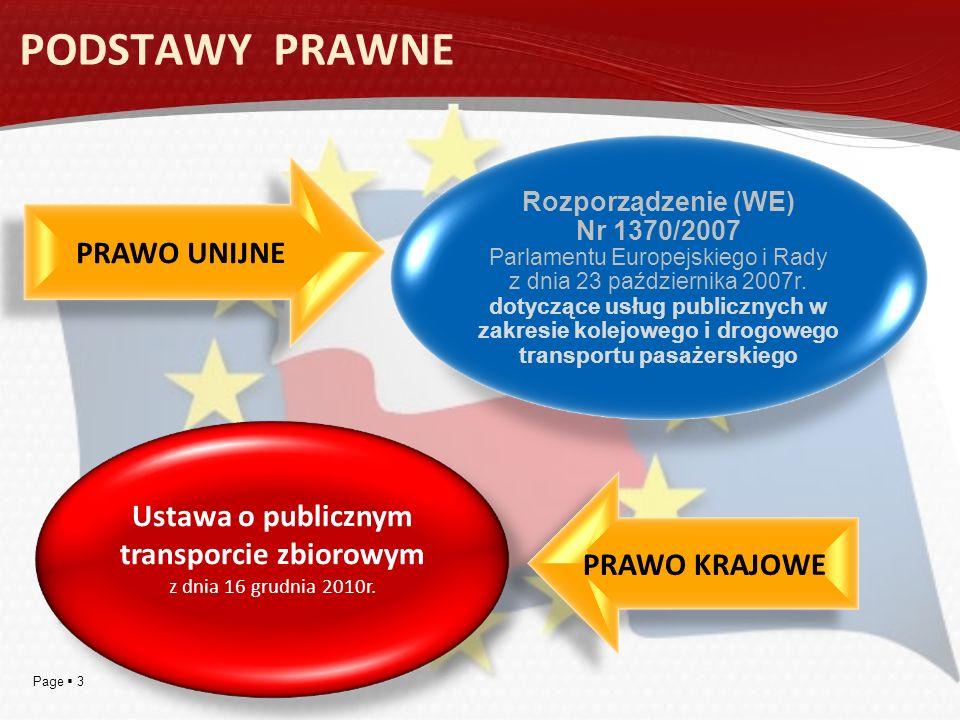 Ustawa o publicznym transporcie zbiorowym