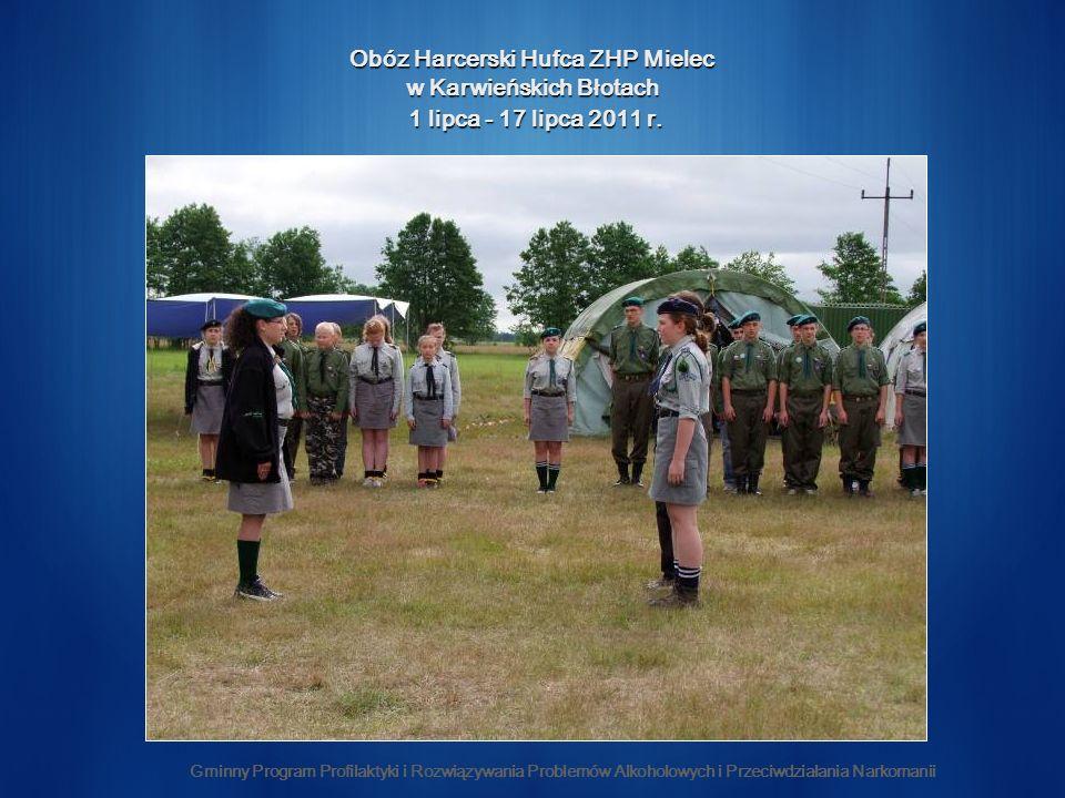 Obóz Harcerski Hufca ZHP Mielec w Karwieńskich Błotach 1 lipca - 17 lipca 2011 r.