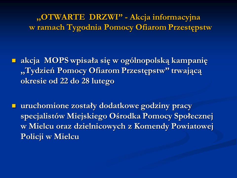 ,,OTWARTE DRZWI - Akcja informacyjna w ramach Tygodnia Pomocy Ofiarom Przestępstw