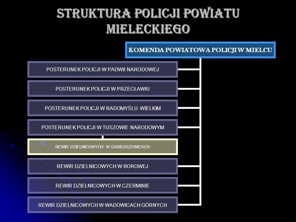 STRUKTURA POLICJI POWIATU MIELECKIEGO