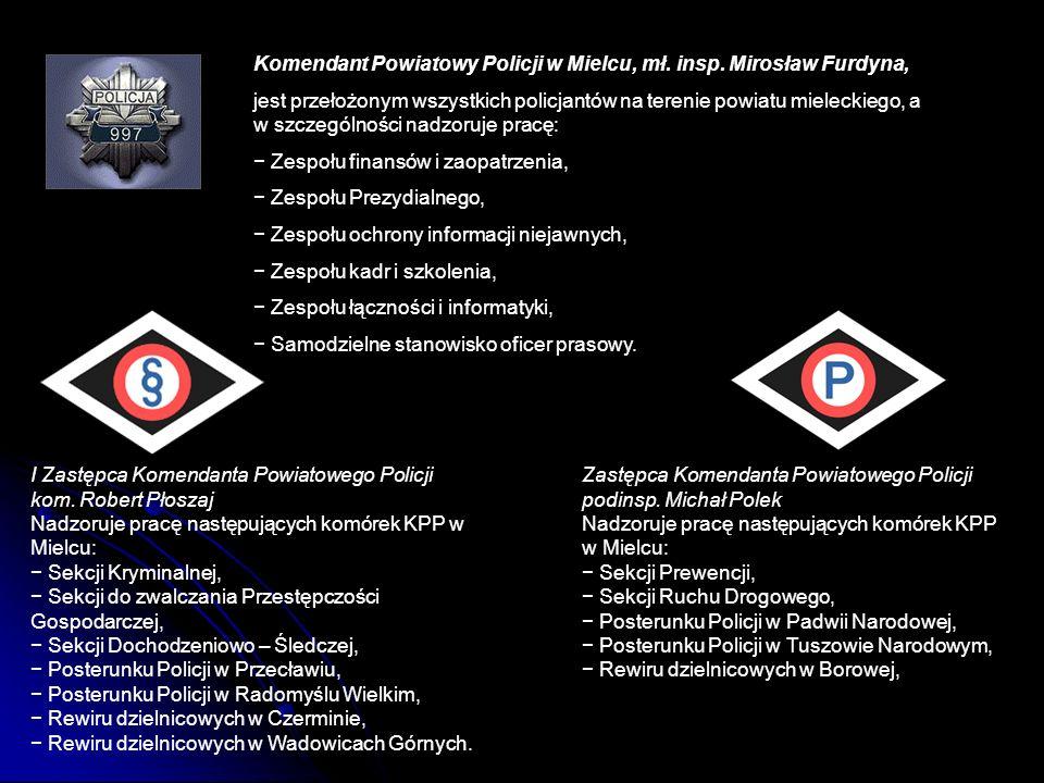 Komendant Powiatowy Policji w Mielcu, mł. insp. Mirosław Furdyna,