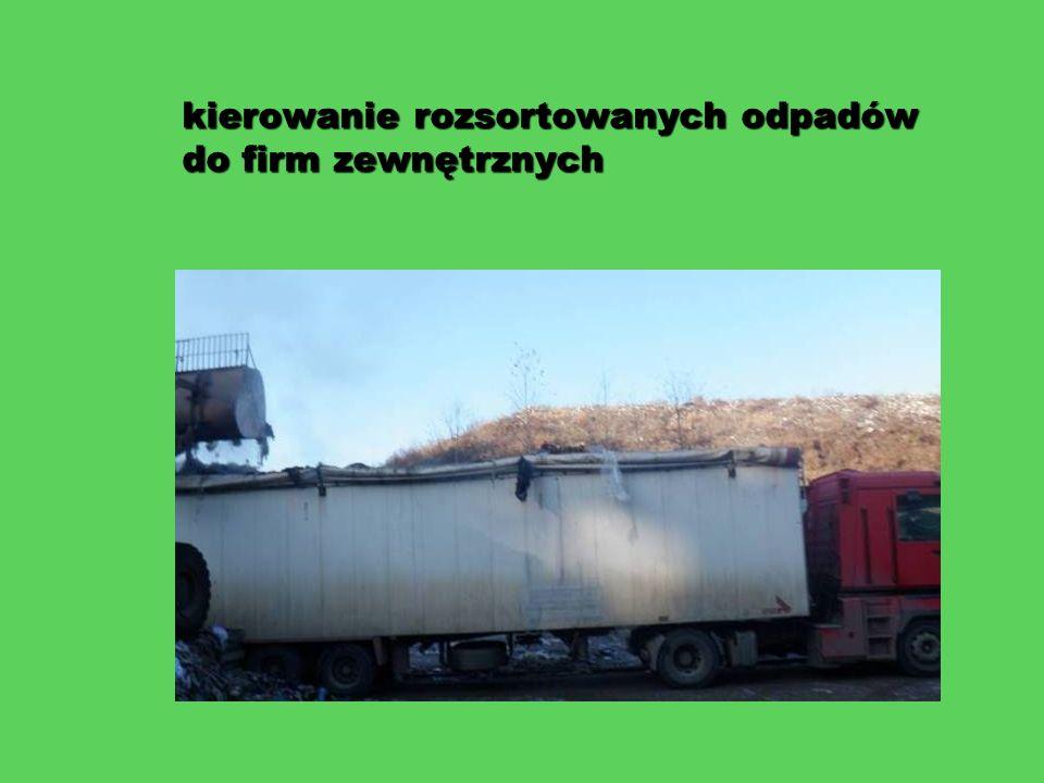 kierowanie rozsortowanych odpadów do firm zewnętrznych