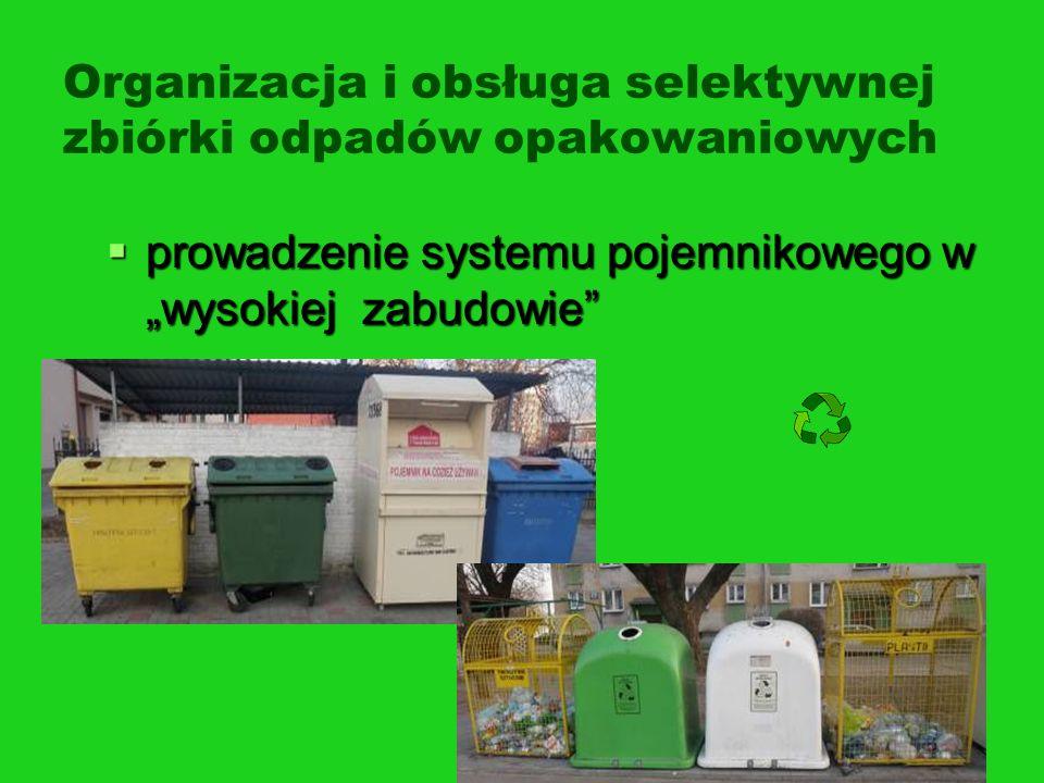 Organizacja i obsługa selektywnej zbiórki odpadów opakowaniowych